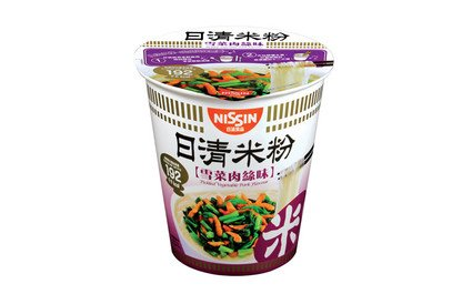 Nissin Rice Vermicelli Cup Type Pickled Vegetable Pork Flavour